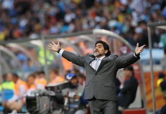 Diego Maradona at the crease!