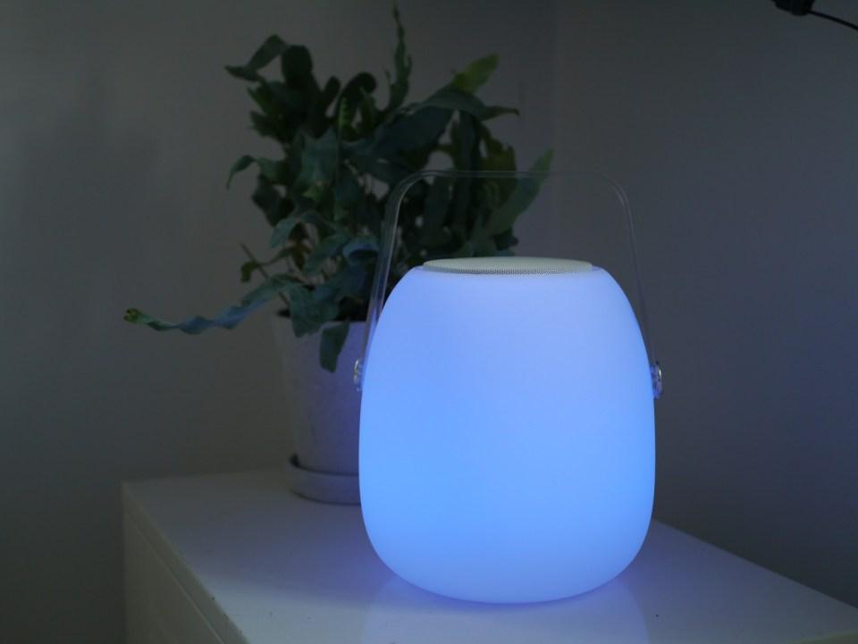 blinkende lampe med musik