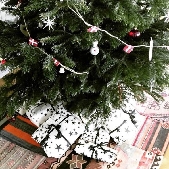 juletræ-kelimtæppe
