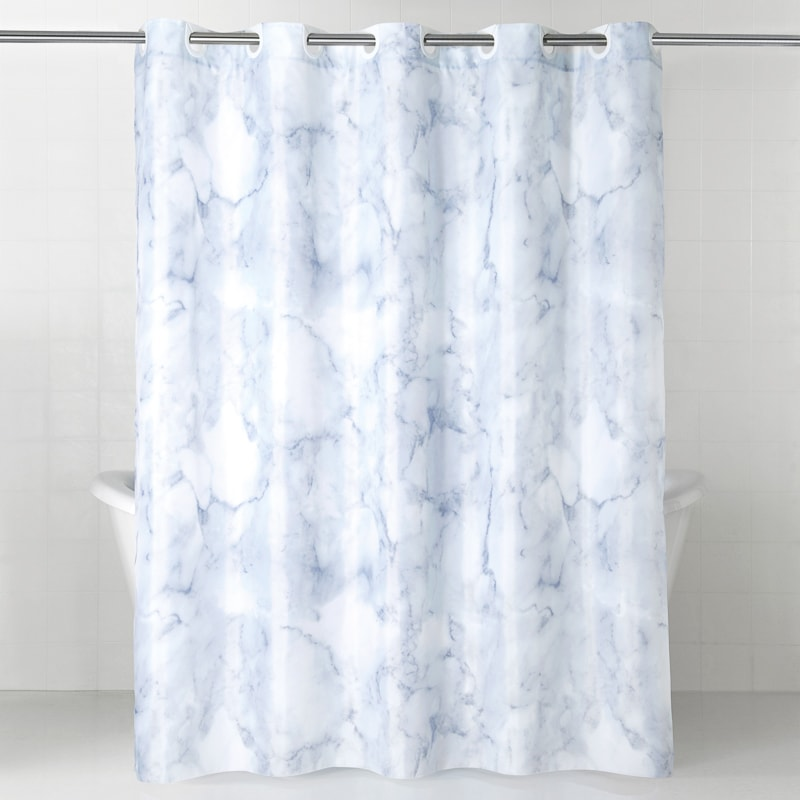 photo shower curtain marble