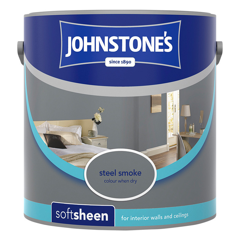 Johnstones Paint Vinyl Soft Sheen Steel Smoke 25L Painting