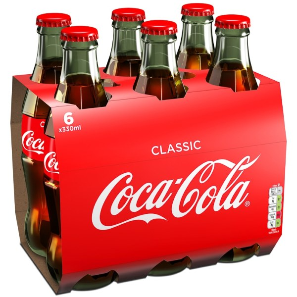 Coca Cola 6 x 330ml   Soft Drink, Fizzy Drink, Juice