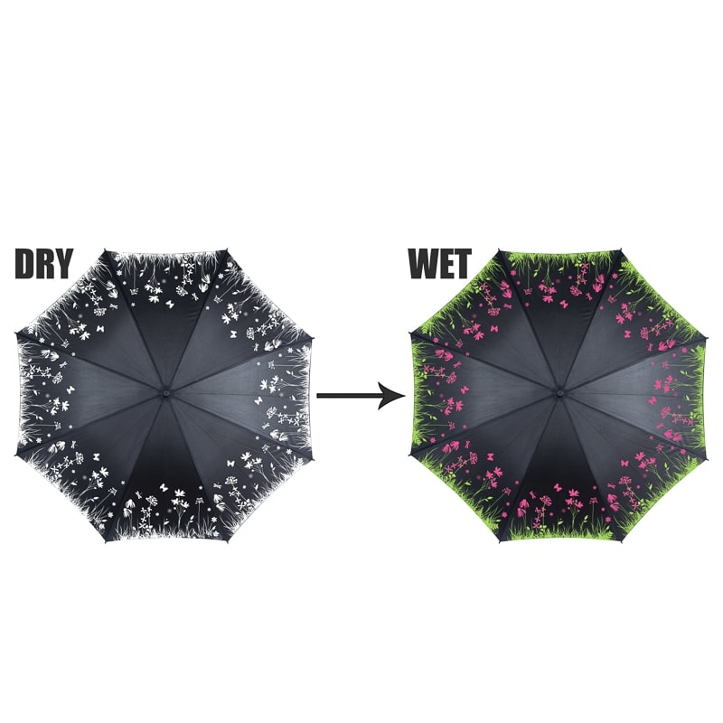 Colour Changing Umbrella Floral Umbrellas BampM
