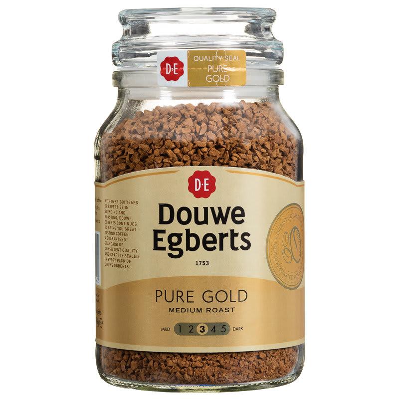 Douwe Egberts Pure Gold Medium Coffee 190g Hot Drinks
