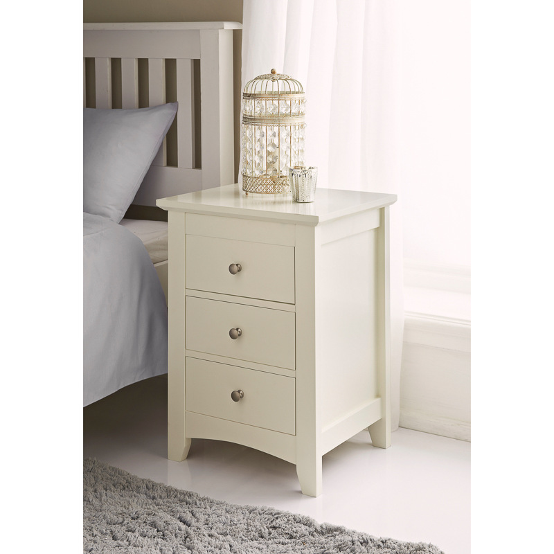 BampM Carmen 3 Drawer Bedside Cabinet 321896 BampM
