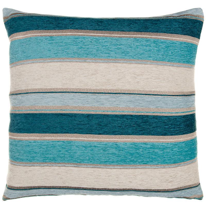 Chloe Chunky Chenille Stripe Cushion Teal Soft Furnishings