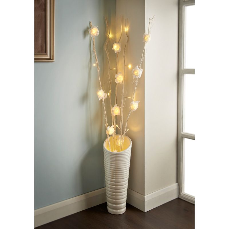 25 LED Rose Branch Lights | Home Decor | Lighting on Decorative Wall Sconces Non Lighting id=12084