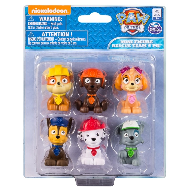 Paw Patrol Mini Figure Rescue Team 6pk Kids Toys BampM