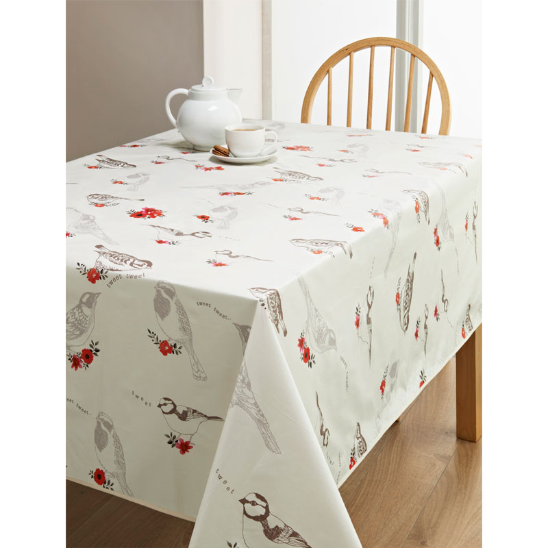 Pvc Wipe Clean Tablecloth Birds Kitchen B Amp M
