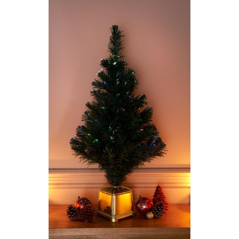 Fibre Optic Christmas Tree 80cm Christmas Trees BampM