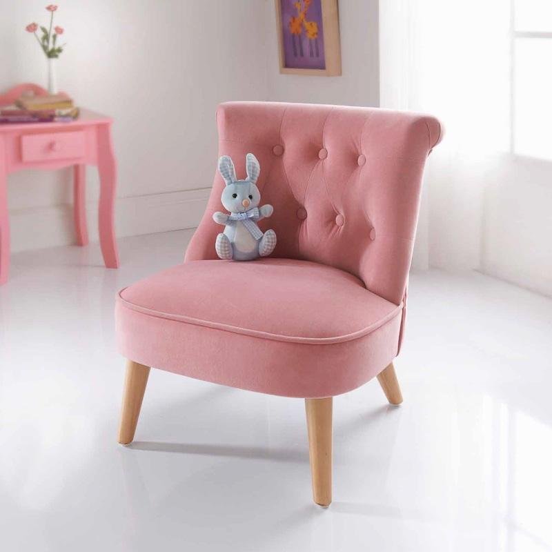 Amelia Velvet Kids Chair Childrens Furniture BampM