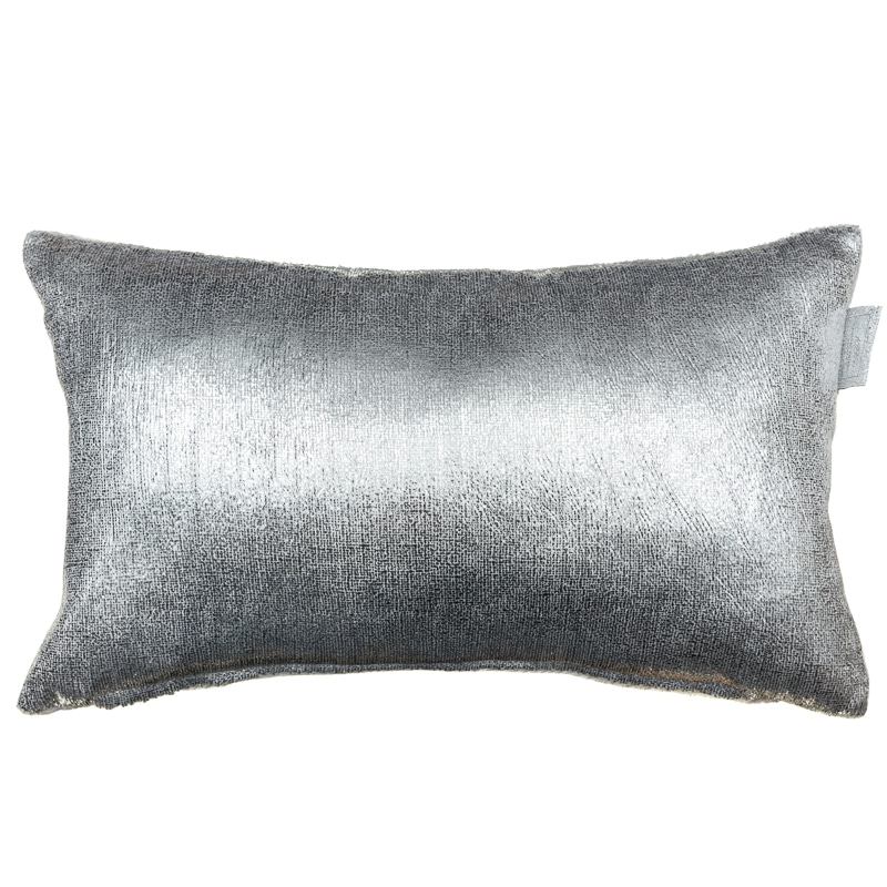Metallic Velvet Cushion Silver Soft Furnishings