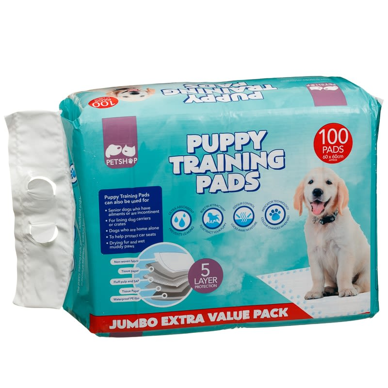 Quilted Puppy Training Pads 60 X 60cm 100pk Pets Dogs