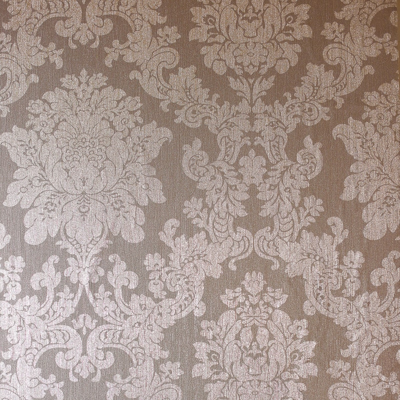 Velvet Damask Wallpaper Rose Gold DIY BampM