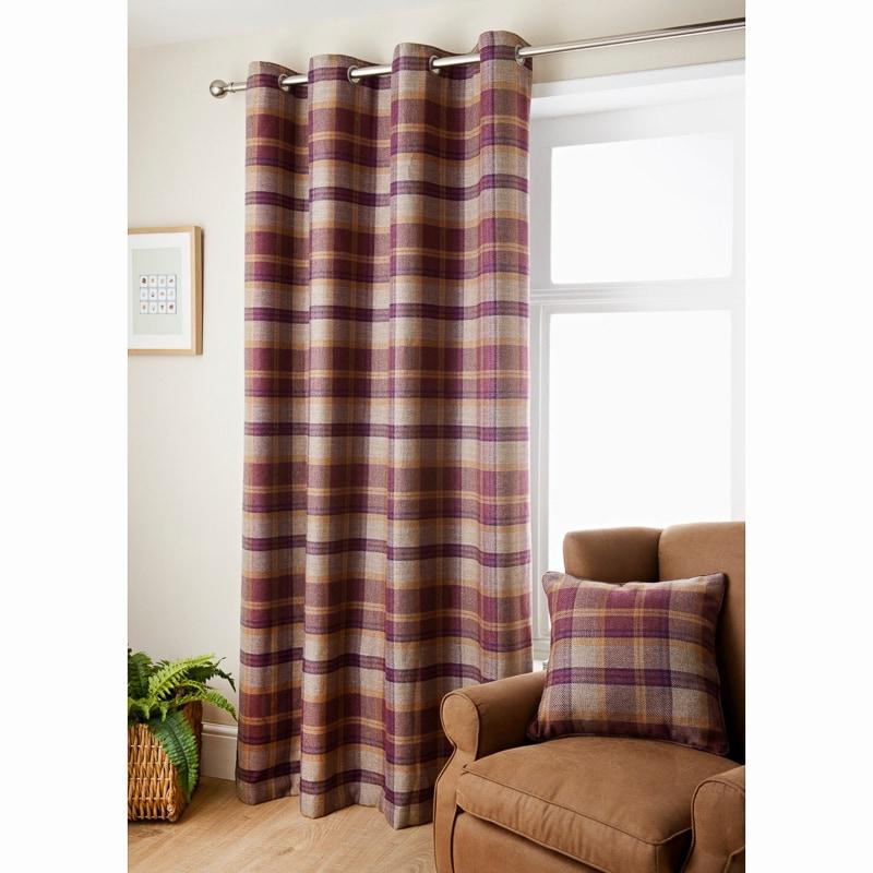 Oakland Check Curtain 90 X 90 Curtains BampM