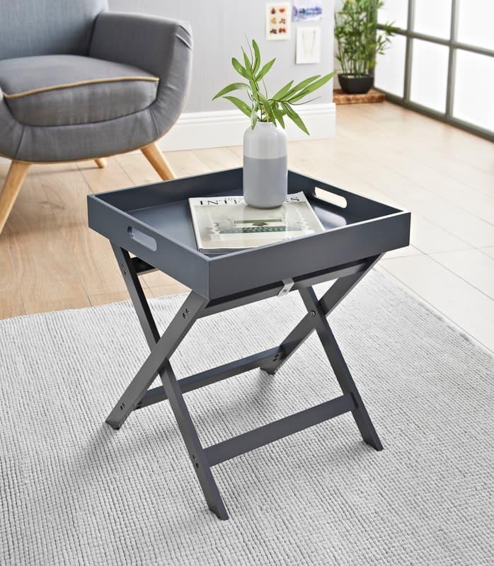 bjorn folding tray table grey
