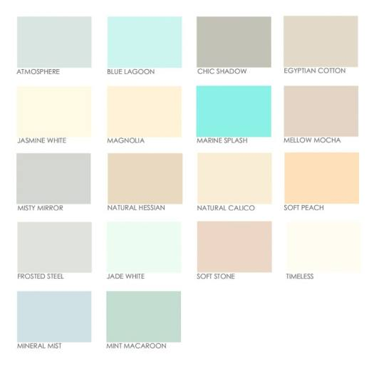 Dulux Kitchen And Bathroom Paint Colours Chart Home Painting