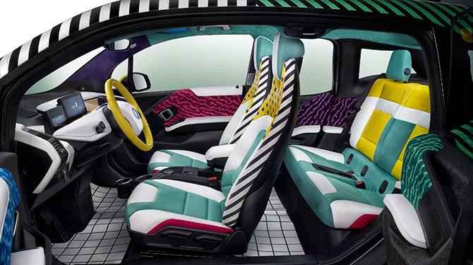 BMW I3 And I8 Memphis Style Art Car Small Series From