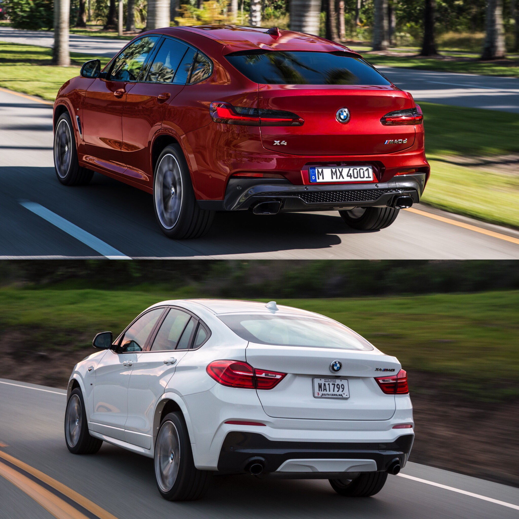 Photo Comparison F26 BMW X4 Vs G02 BMW X4 Old Vs New