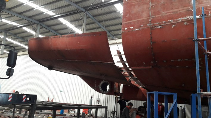 First pictures: Kando under construction at AvA Yachts