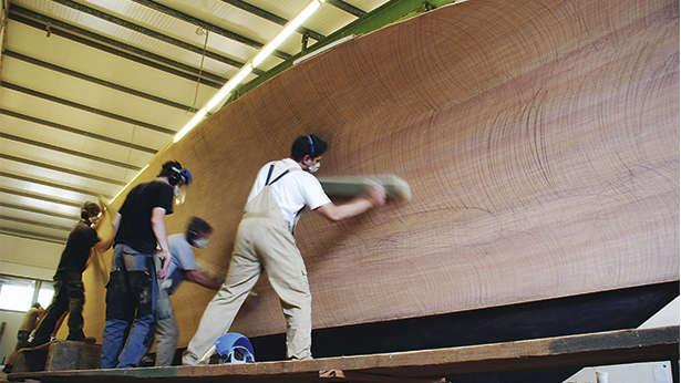 The Construction Of Modern Wooden Superyachts Boat