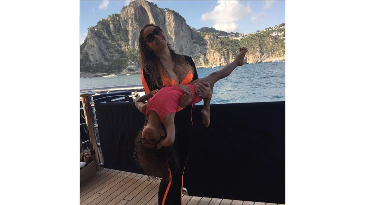 Mariah Carey Holidays In Capri On Arctic P Boat