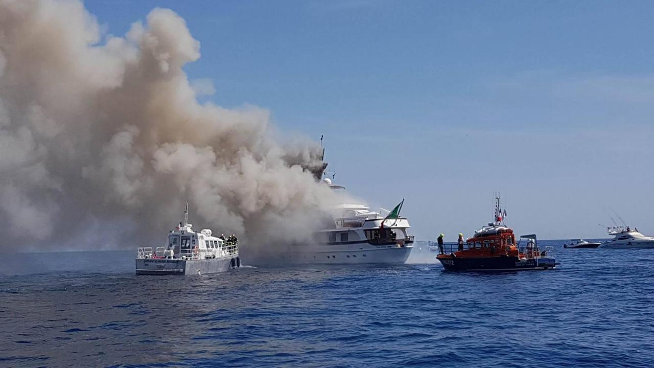 Feadship Motor Yacht If Only Catches Fire Off Nice Plus
