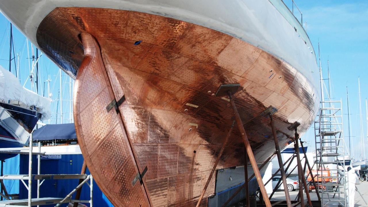Classic Yacht Kentra Emerges From Refit With Rare Copper