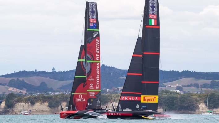 Racing at the America's Cup 2021