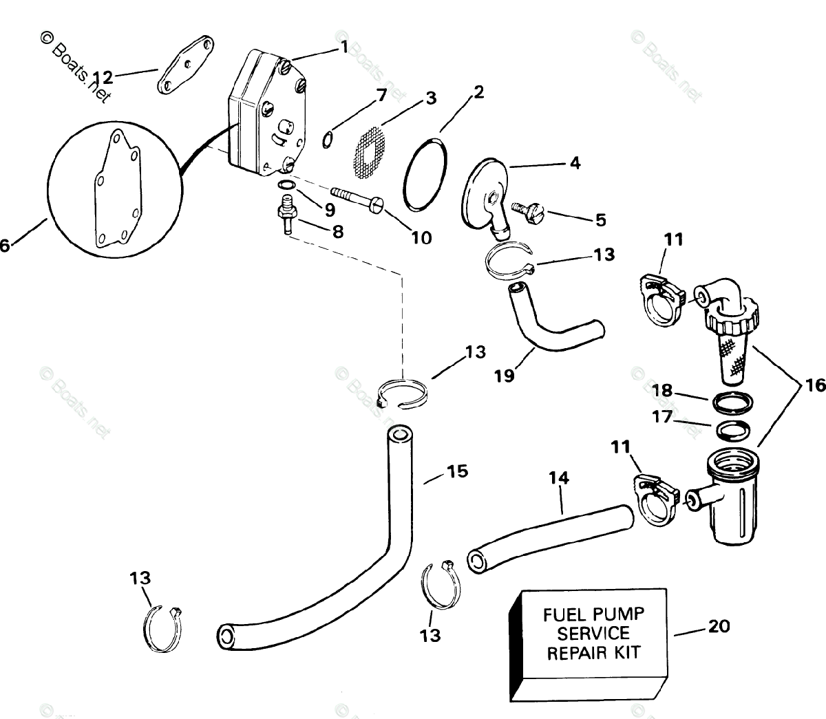 Johnson Outboard Parts By Hp 15hp Oem Parts Diagram For