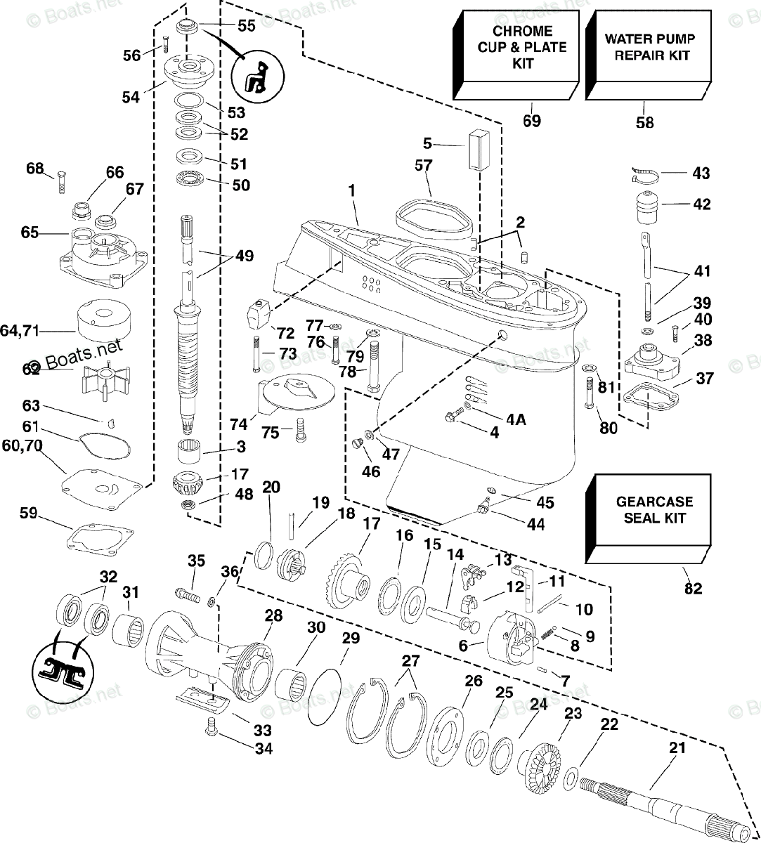 Evinrude Outboard Parts By Hp 60hp Oem Parts Diagram For