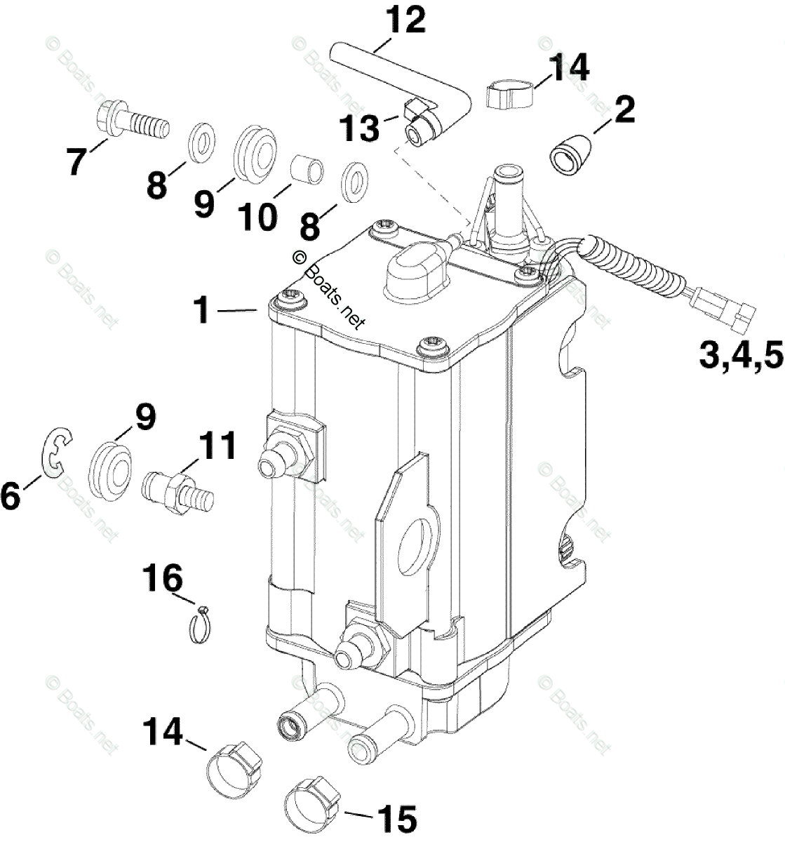 Evinrude Outboard Parts By Hp 115hp Oem Parts Diagram For