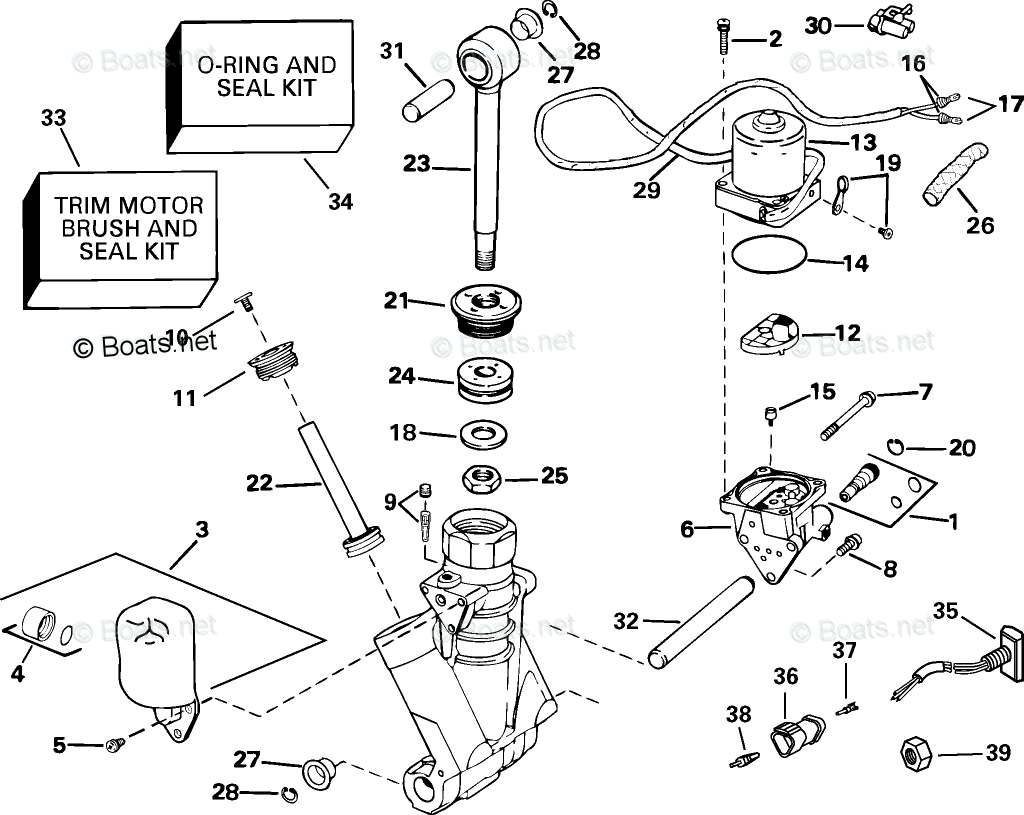 Johnson Outboard Parts By Hp 115hp Oem Parts Diagram For