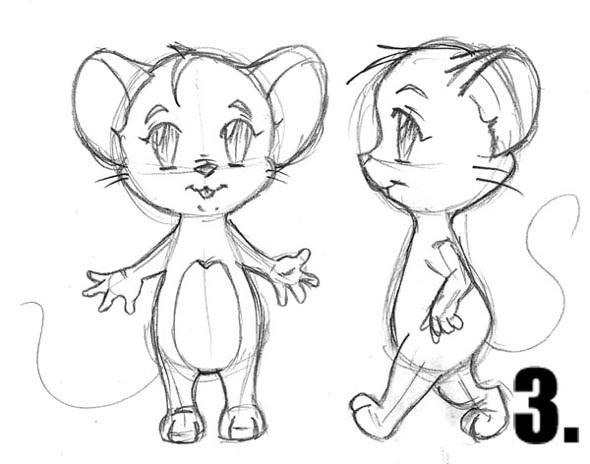 Как нарисовать мышку, мышь карандашом поэтапно?