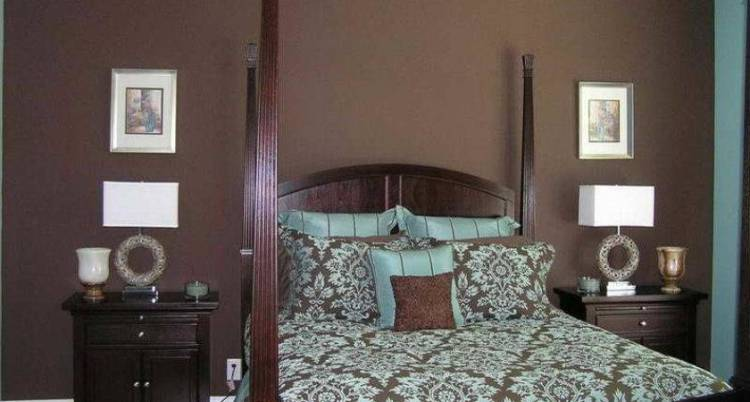 Simple Brown Bedroom Walls Placement Homes Decor