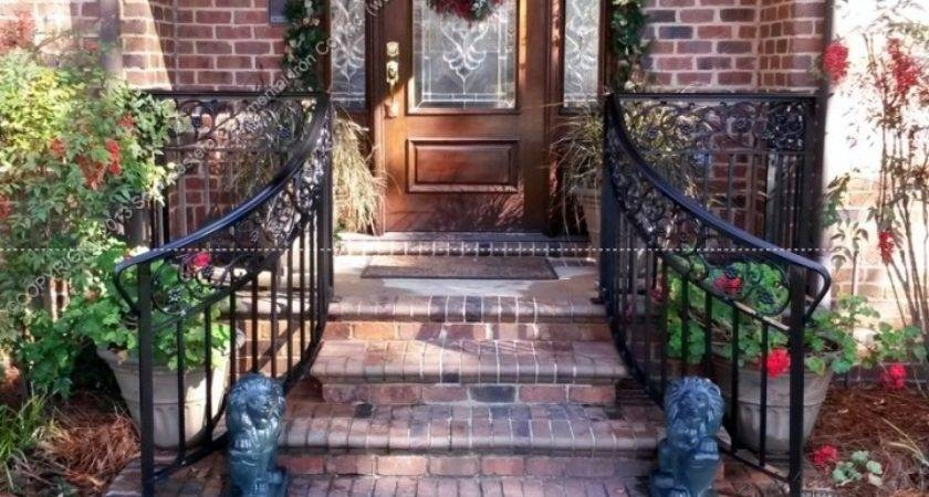 Porch Step Rails Front Door Stair Railings More Decor Homes Decor | Handrails For Front Steps | Small House | Granite | Easy | Cast Iron | Wrought Iron