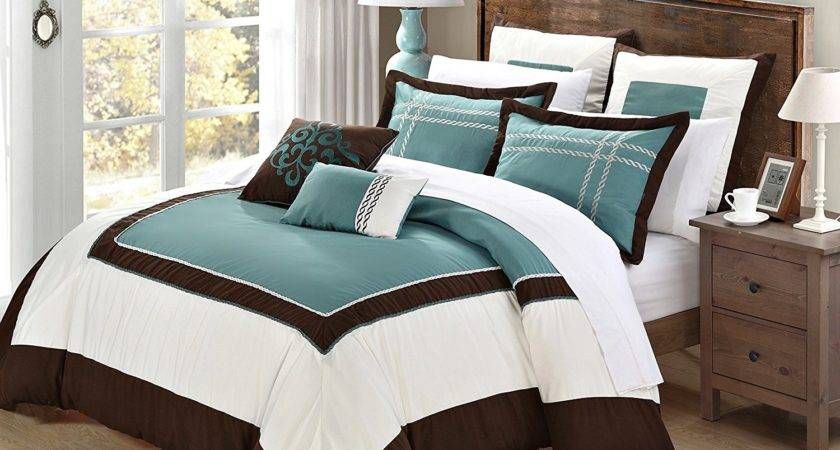 Teal Brown And White Bedroom Ideas Homes Decor