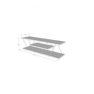 meuble tv canaz 120 x 30 x 33 cm noyer noir