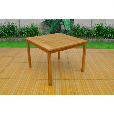 table de jardin en teck kuala 100 x 100 cm jusqu a 4 places