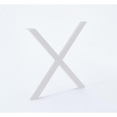 pied forme x pour banc 40 x 39 cm blanc mat