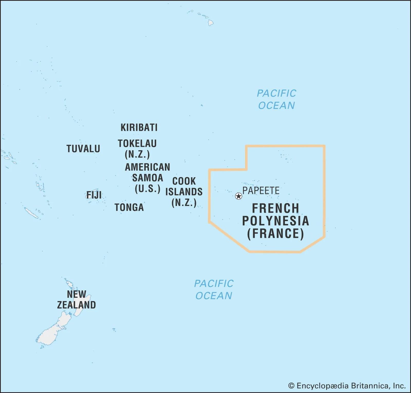 French Polynesia Islands History Population Britannica
