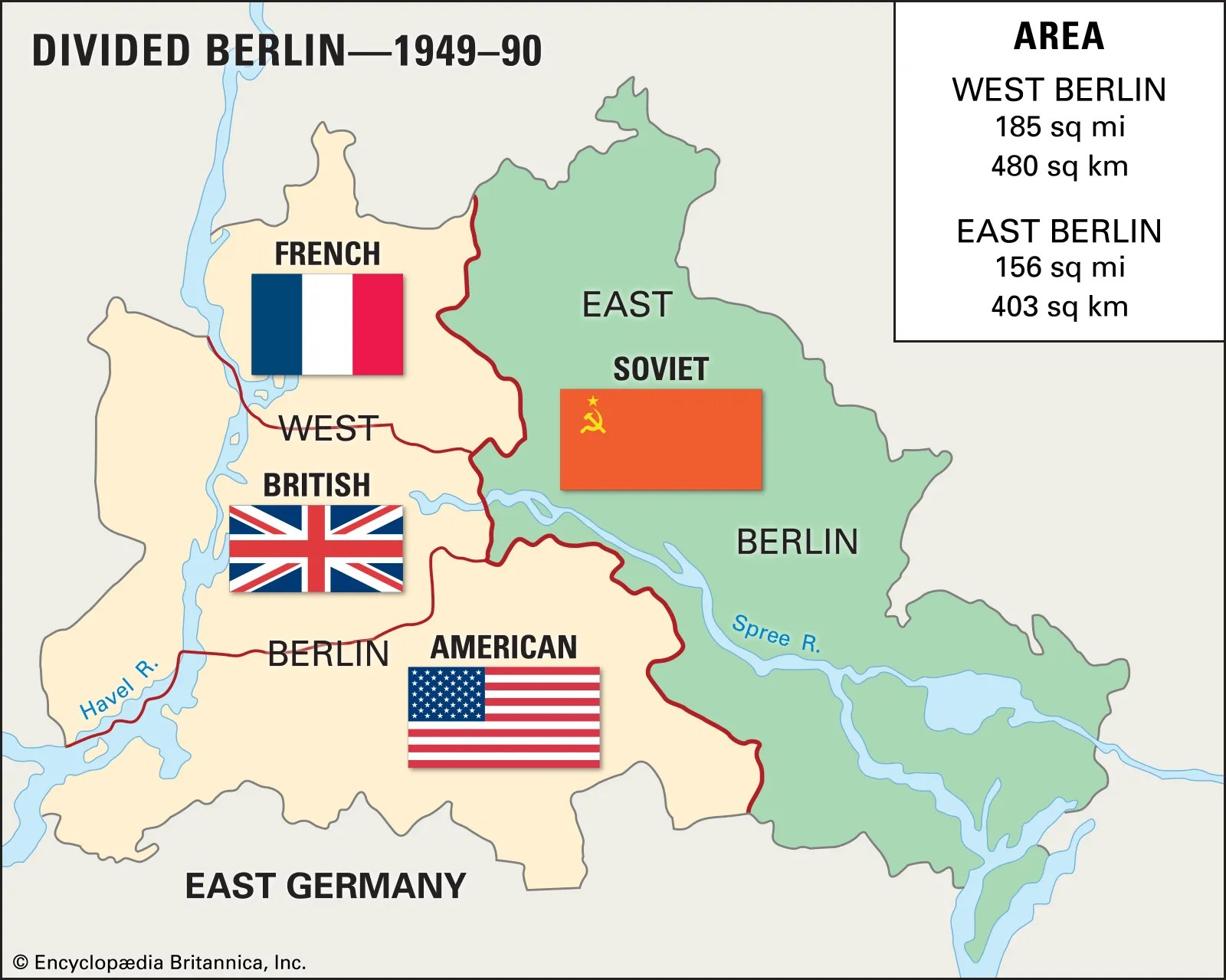 Map 67 Germany Divided