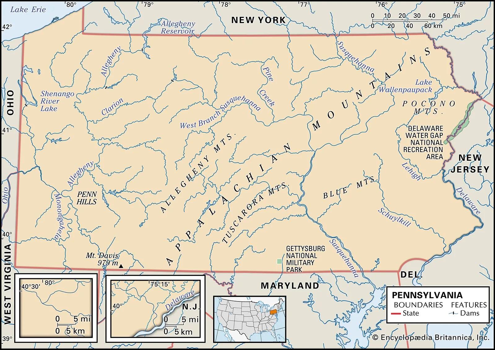 Pennsylvania Capital Population Map Flag Facts History Britannica