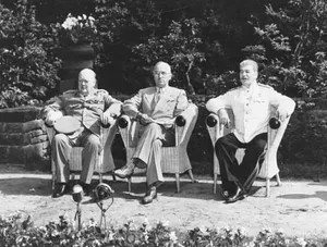 Image result for picture of the big three at potsdam