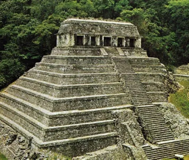 The Temple Of Inscriptions Palenque Mexico The Mountain Element Was Represented By The