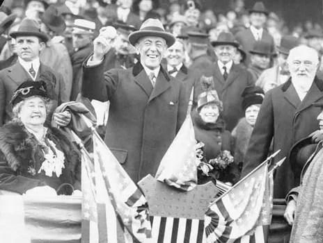 President Woodrow Wilson At The 1915 Baseball World Series