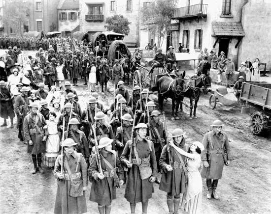 Escena de The Big Parade (1925), dirigida por el rey Vidor.