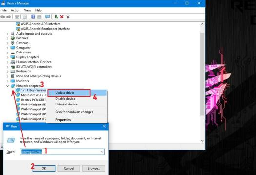 update network driver in windows