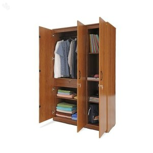 buildmantra com  Natural Teak Finish 3 Door Wardrobe Wardrobe Natural Teak Finish 3 Door Wardrobe