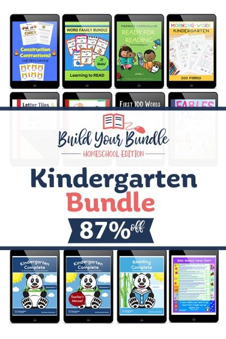 Build Your Bundle Kindergarten Homeschool Bundle